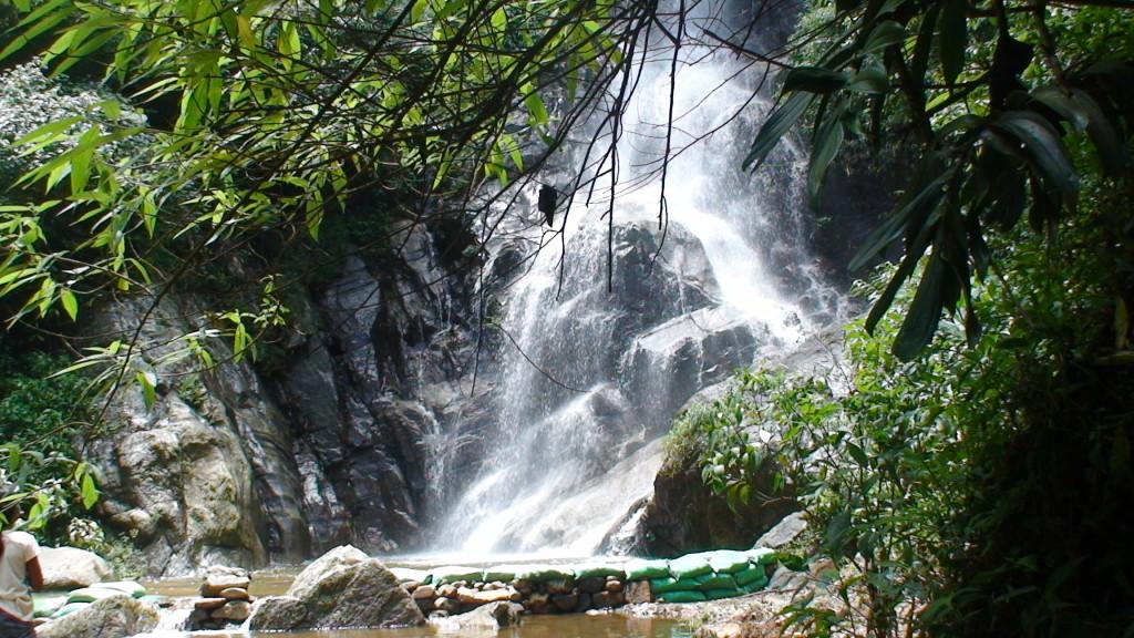 Water fall of Gonapitiya on a warm sunny day.